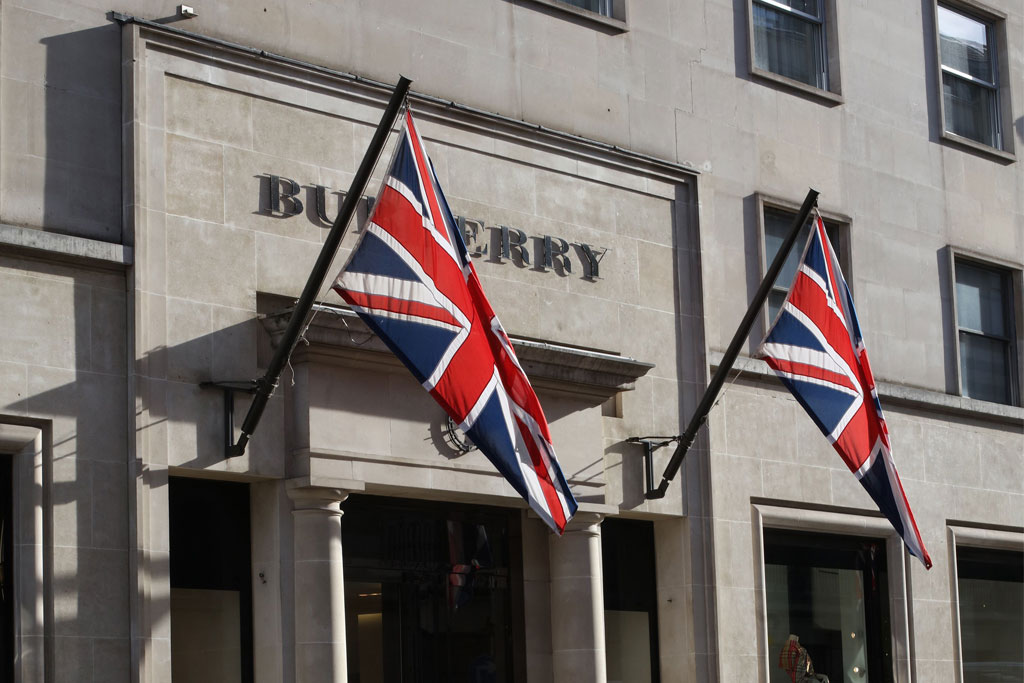 A Burberry store on Bond Street in London.