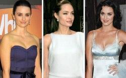 Penelope Cruz, Angelina Jolie, Katy Perry,