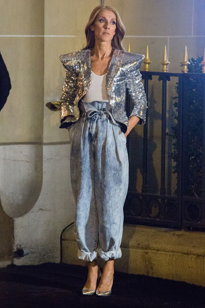 Céline Dion, heels, paris, l'oreal