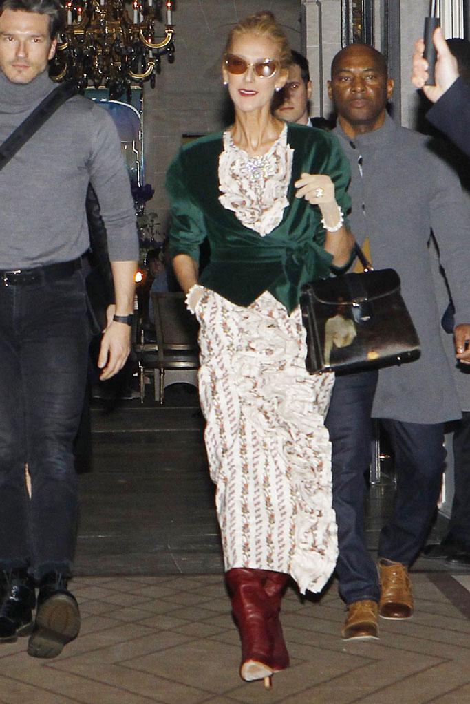 Celine Dion, celebrity style, fashion, Batsheva