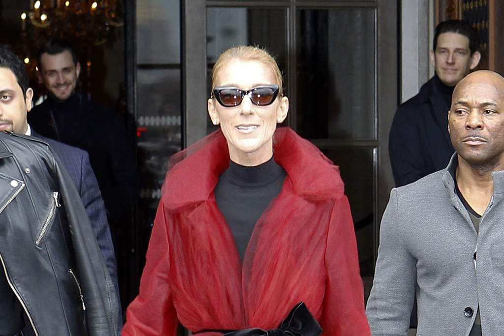 Celine Dion Turns Heads In Paris In A 3 490 Red Coat And Red Heels Footwear News