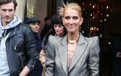 Céline Dion wearing Ronald van der