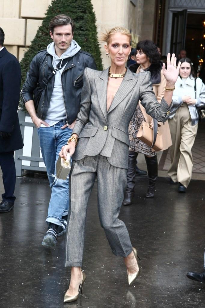 celine dion fashion week street style