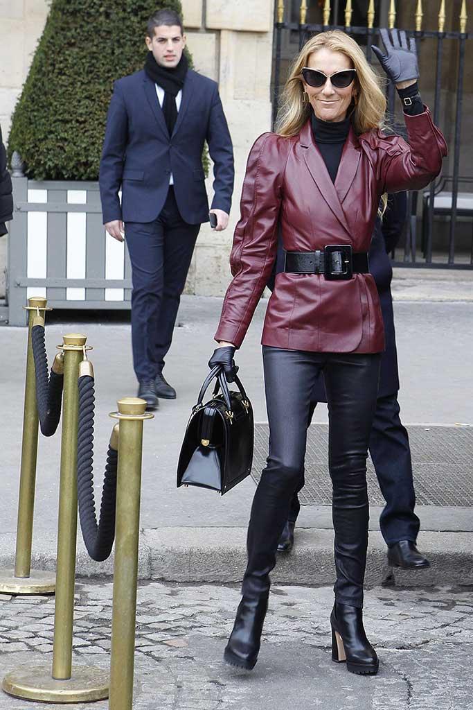 Celine Dion wearing Nicholas Kirkwood.