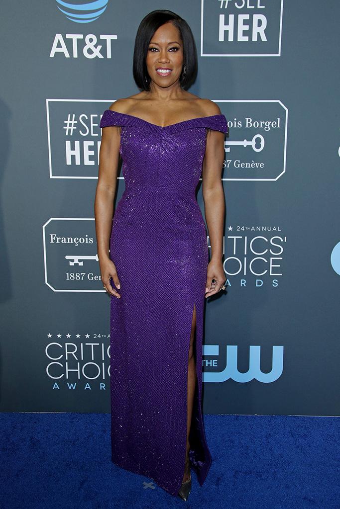 Regina King, 24th Annual Critics' Choice Awards, Arrivals, Barker Hanger, Los Angeles, USA - 13 Jan 2019