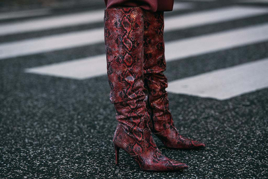 Custommade , copenhagen fashion week, fall 2019, snakeskin, boots, street style, trend