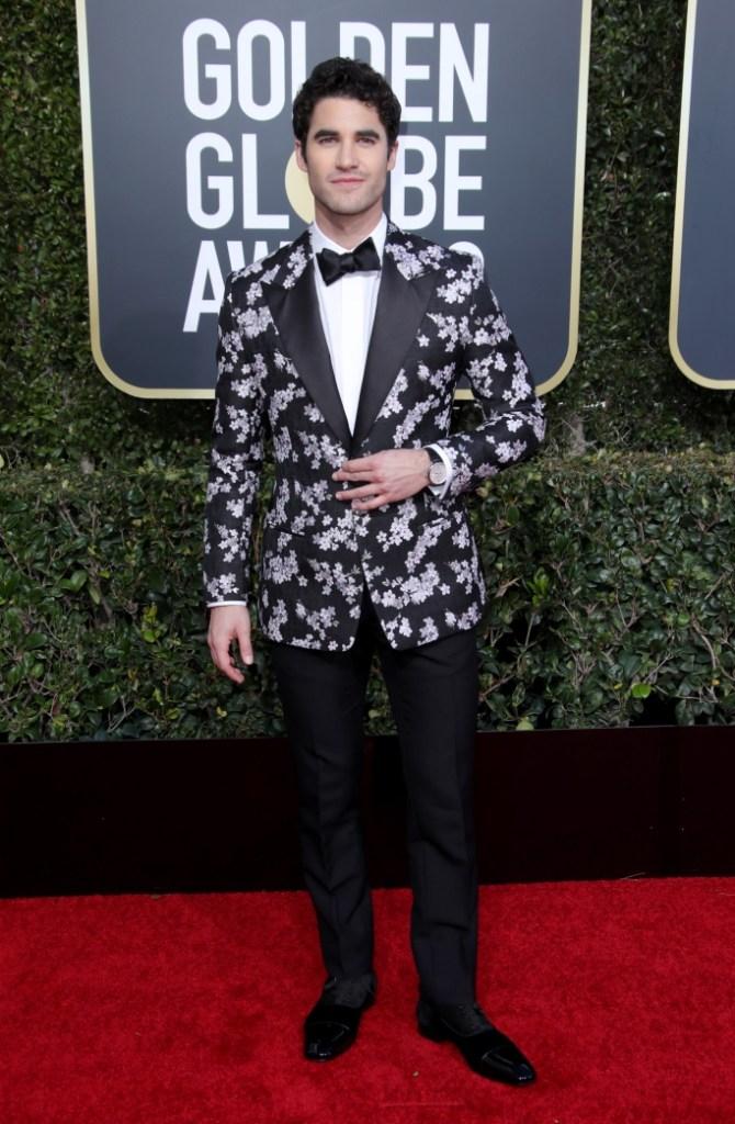 Darren Criss, golden globes, red carpet, celebrity style