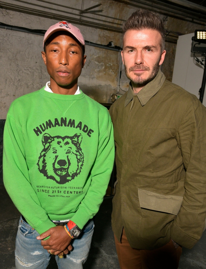 david beckham, pharrell williams, adidas makerlab show