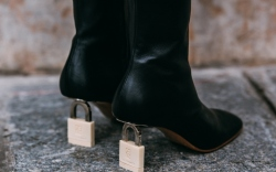 Deuxième Studios boots, lock heels