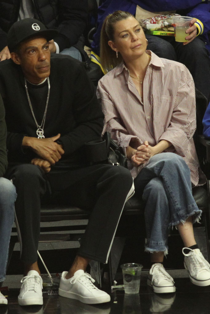 la clippers, ellen pompeo, celebrity style, chris ivery, husband, sneakers