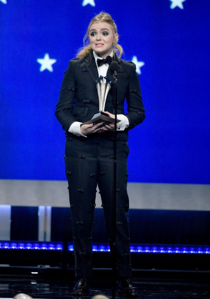 elsie fisher critics choice awards, thom browne