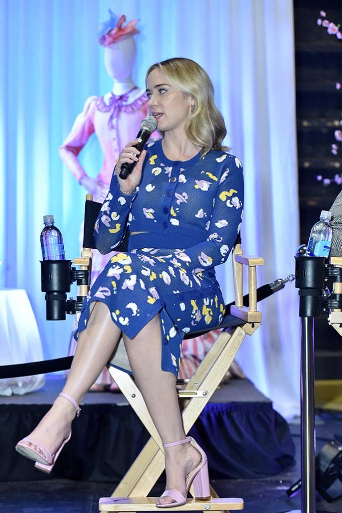 Emily Blunt, celebrity style, altuzarra, sandals, 'Mary Poppins Returns' Deadline Screening, Los Angeles, USA - 12 Jan 2019
