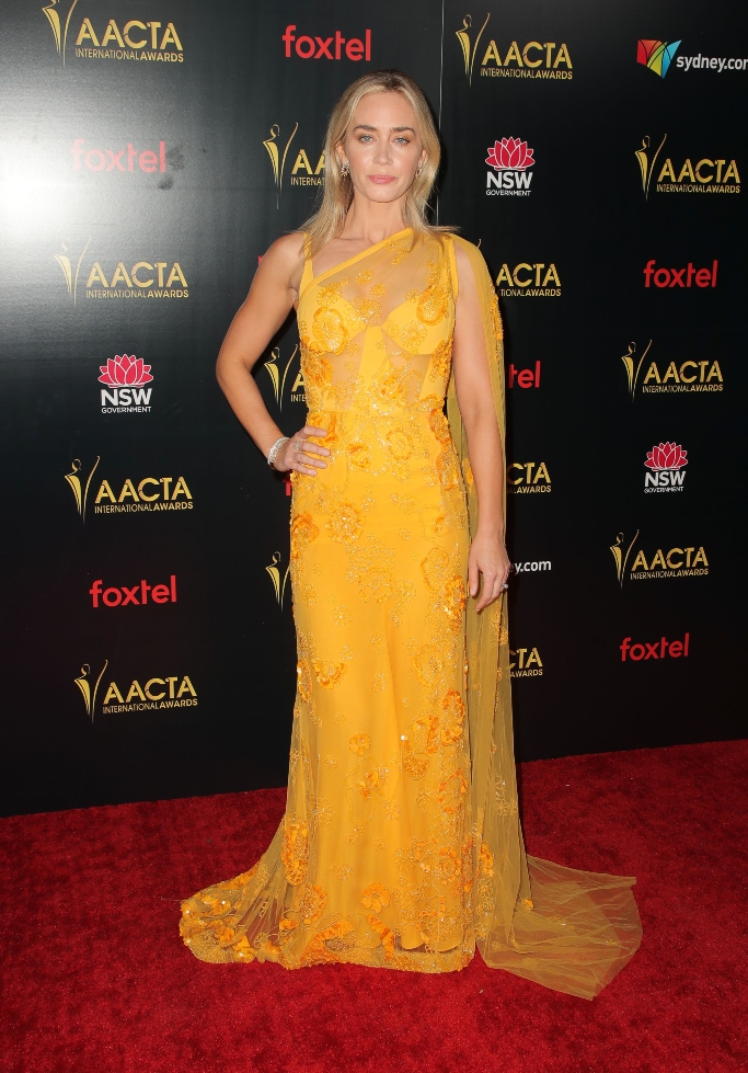 emily blunt, orange dress, AACTA International Awards