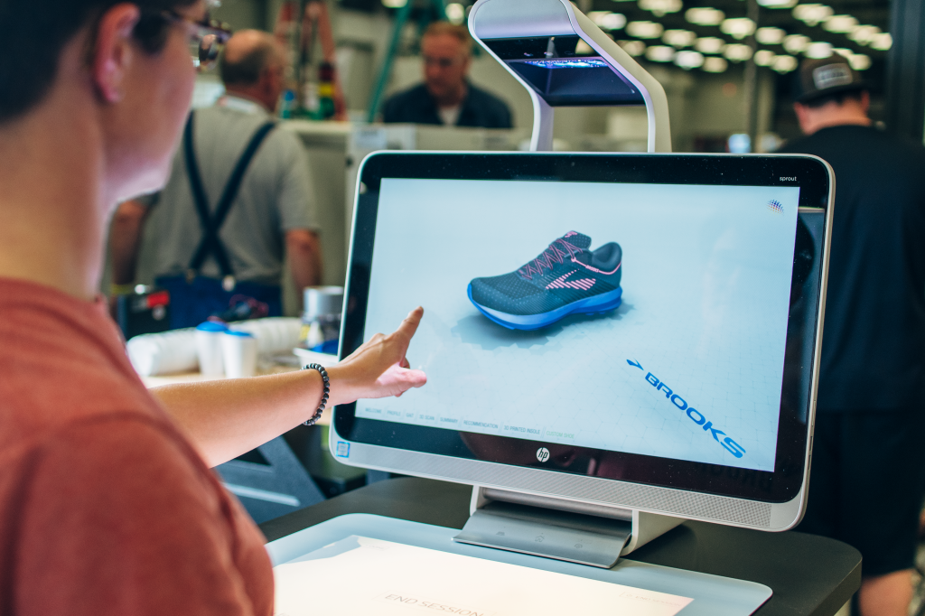 The Fitstation collaboration with partners HP and Superfeet uses 3-D printing and scanning to create custom shoes and insoles