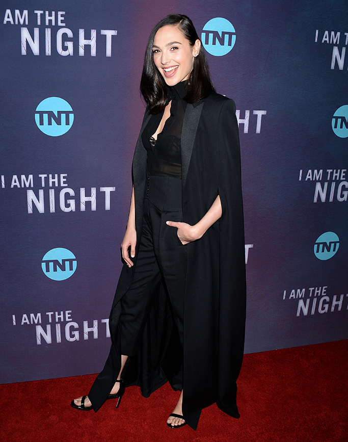Gal Gadot'I Am The Night' TV Show Premiere, Arrivals, Harmony Gold, Los Angeles, USA - 24 Jan 2019 Wearing Saint Laurent Same Outfit as catwalk model *9890038ct
