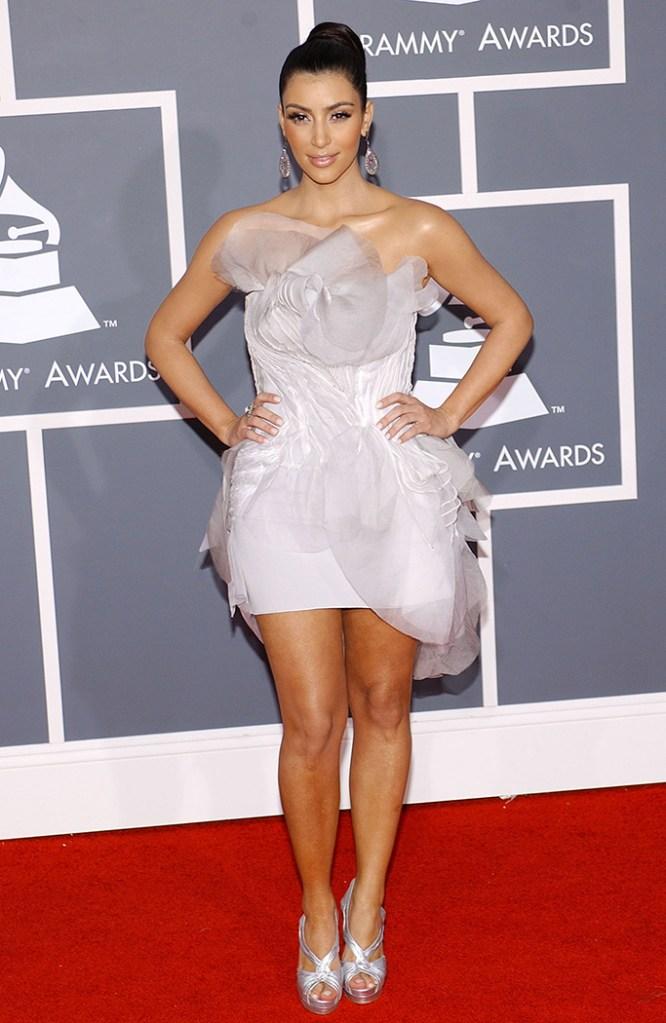 Kim Kardashian51st Annual Grammy Awards, arrivals, the Staples Center, Los Angeles, America - 08 Feb 2009