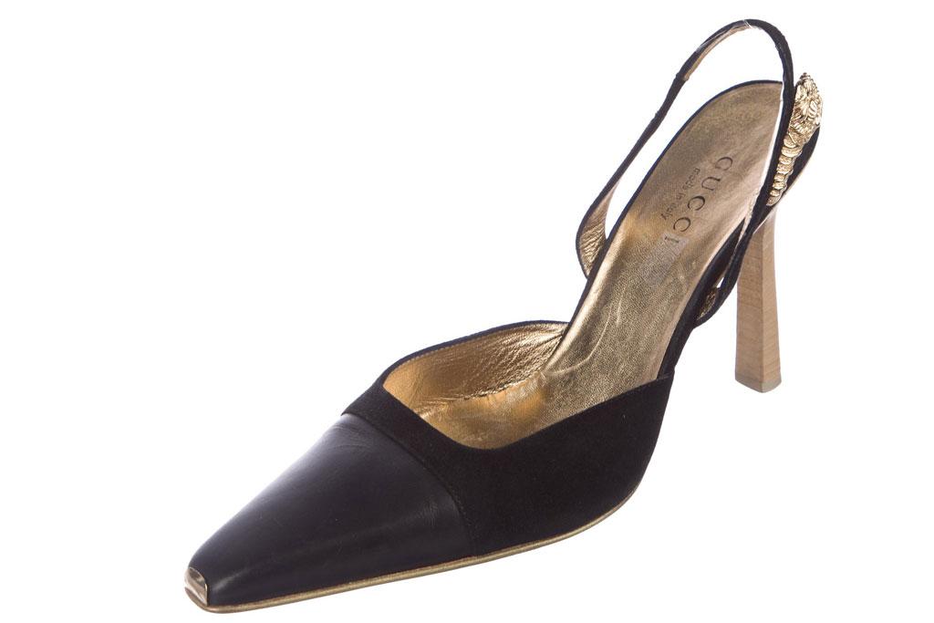 gucci square-toe pumps