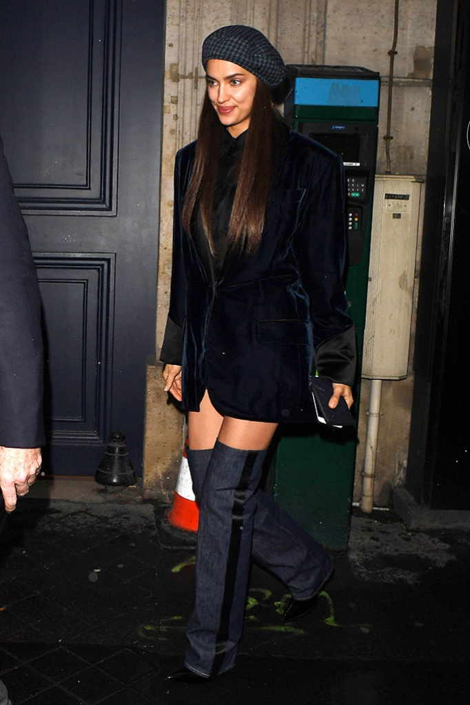Irina ShaykIrina Shayk out and about, Haute Couture Fashion Week, Paris, France - 23 Jan 2019Wearing Jean-Paul Gaultier Same Outfit as catwalk model Alexina Graham *9731945a