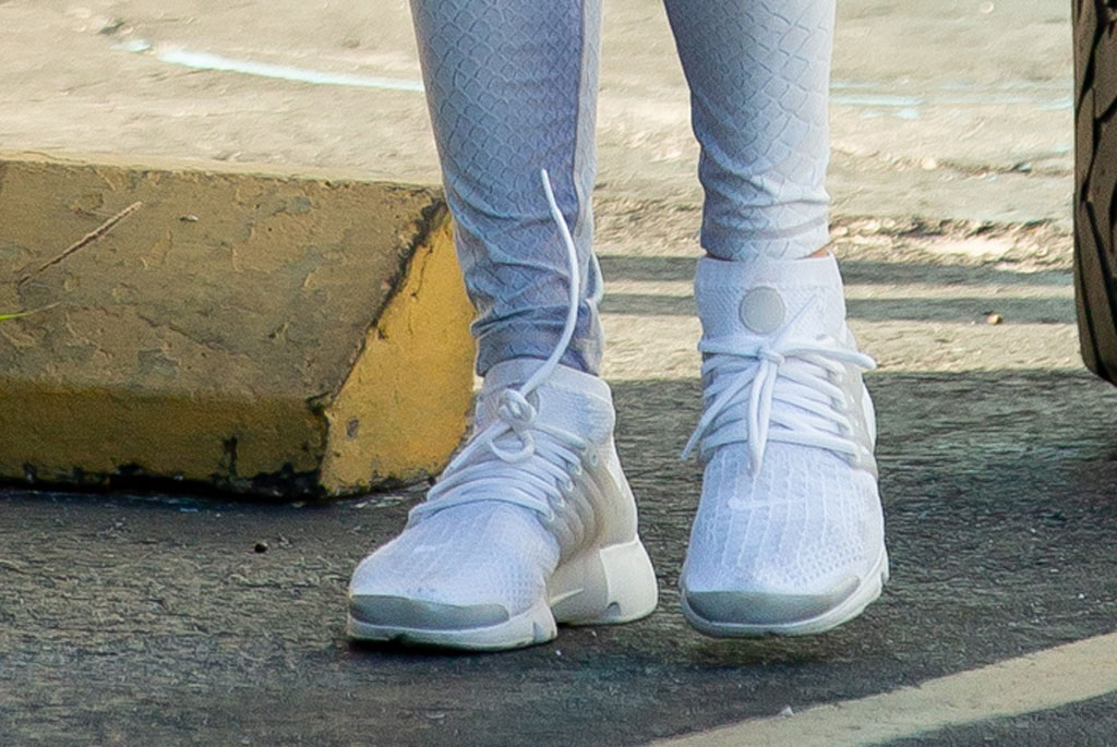jennifer lopez, nike air presto, leggings, sneakers, gym