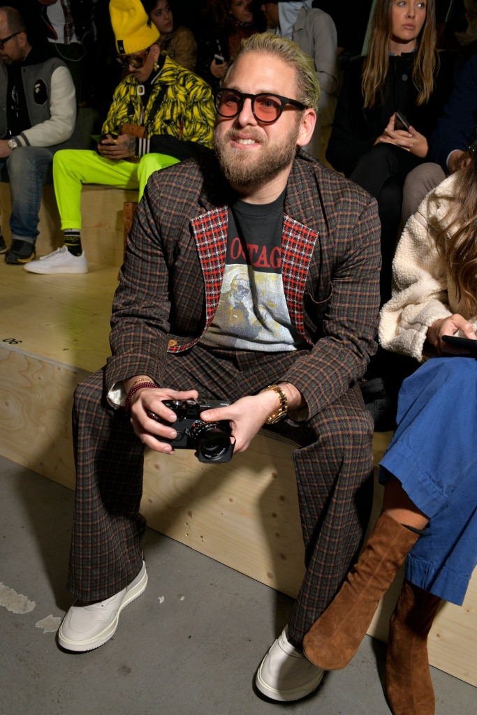 jonah hill, adidas makerlab show front row
