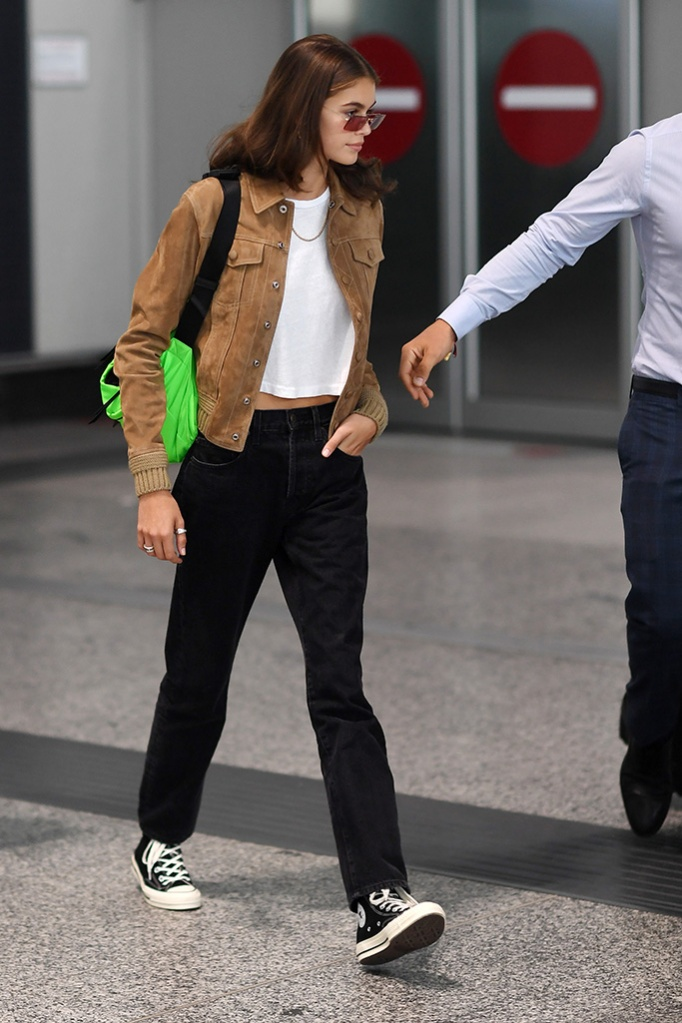Model Kaia Gerber is seen during Milan Fashion Week on September 18, 2018 in Milan, Italy.Pictured: Kaia GerberRef: SPL5025466 180918 NON-EXCLUSIVEPicture by: SplashNews.comSplash News and PicturesLos Angeles: 310-821-2666New York: 212-619-2666London: 0207 644 7656Milan: 02 4399 8577photodesk@splashnews.comWorld Rights, No France Rights, No Switzerland Rights