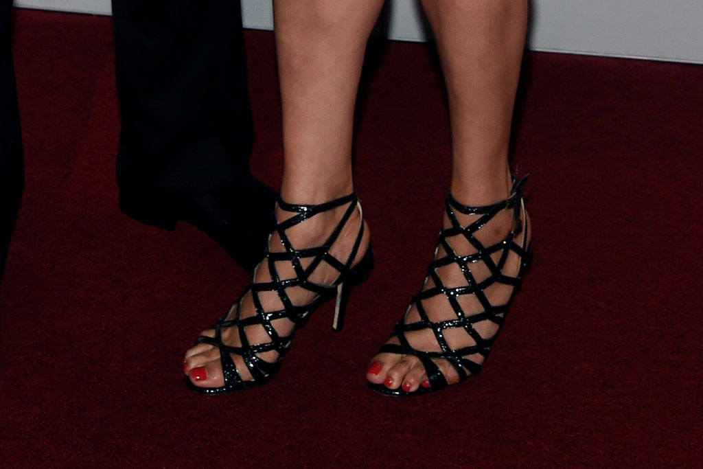 Kamala Harris, sandals, cage heels, shoe style