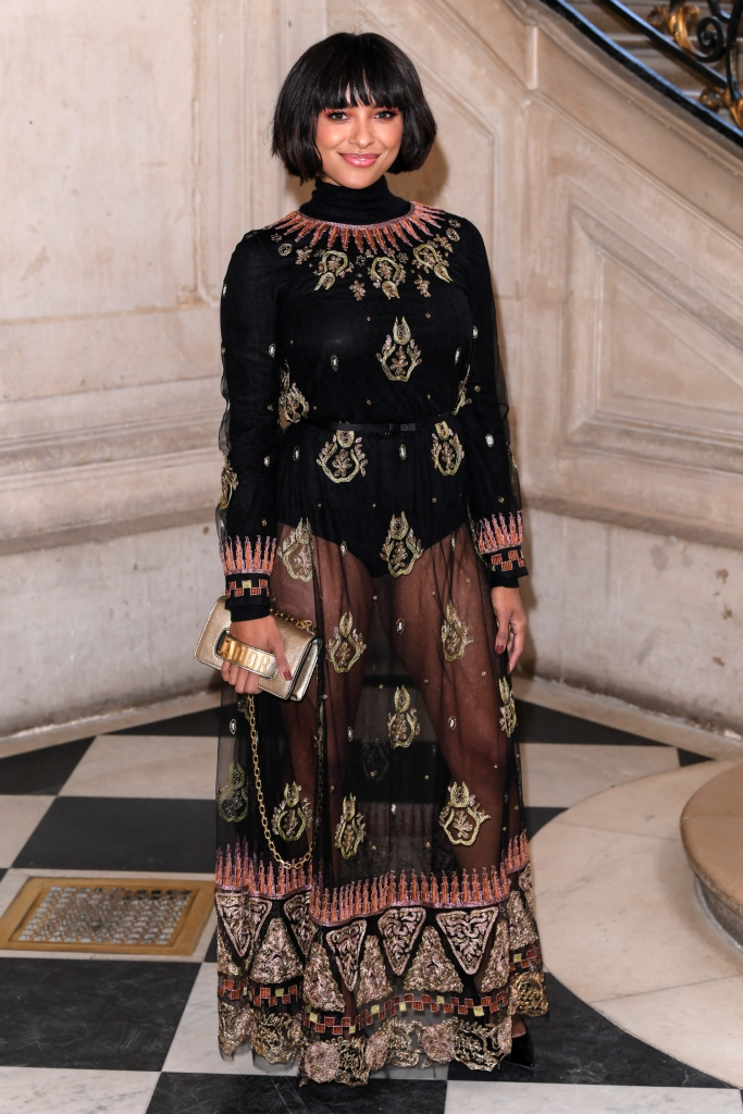 Kat Graham wearing Dior, front row, haute couture week
