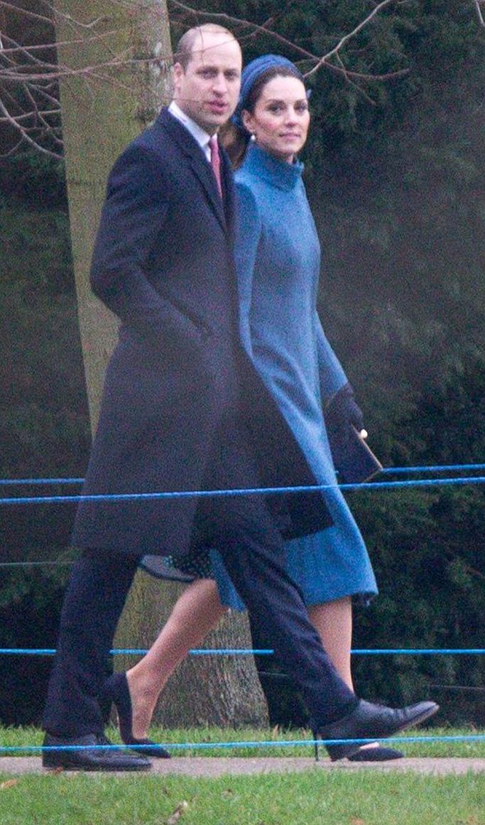 Prince William and Catherine, Catherine Duchess of Cambridge British Royals attend Sunday morning service at St Mary Magdalene Church, Sandringham, Norfolk, UK - 06 Jan 2019