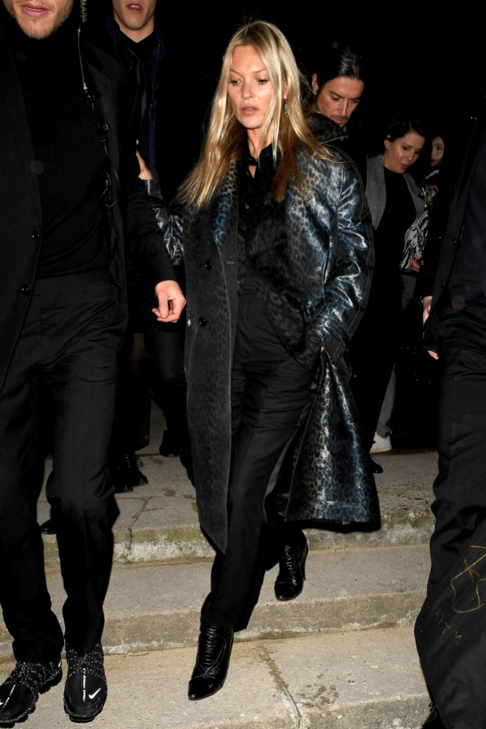 kate moss, dior homme show