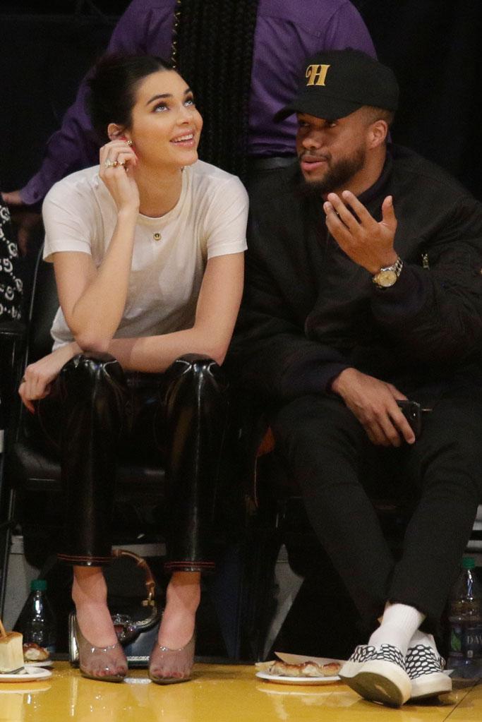Kendall Jenner, yeezy, la lakers, celebrity style, philadelphia 76ers, ben simmons