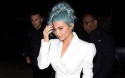 Kylie Jenner, blue hair, celebrity style