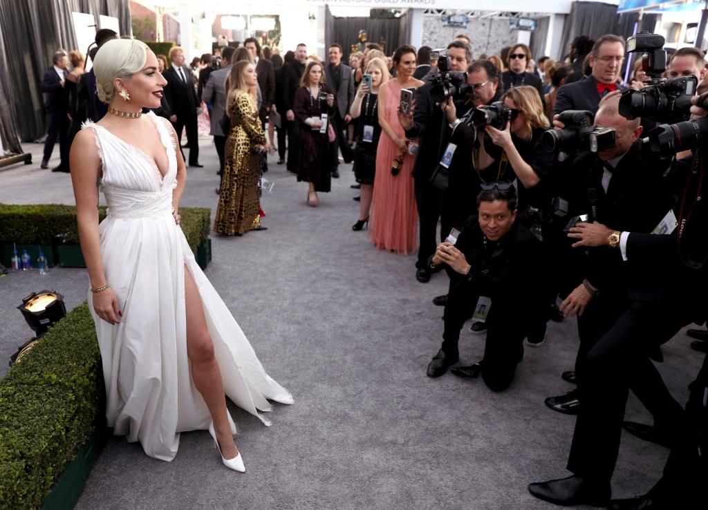 lady gaga, sag awards, dior couture