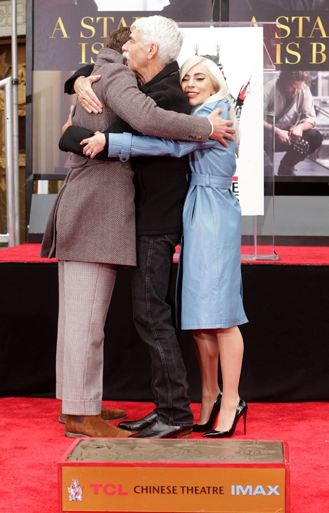 Bradley Cooper, Sam Elliott, Lady GagaSam Elliott Hand and Footprint ceremony at the TCL Chinese Theatre, Los Angeles, CA, USA - 7 Jan 2019