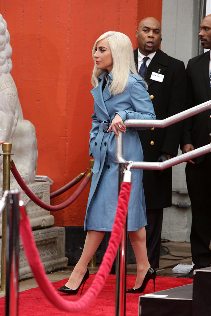 Lady GagaSam Elliott Hand and Footprint ceremony at the TCL Chinese Theatre, Los Angeles, CA, USA - 7 Jan 2019Wearing Fay