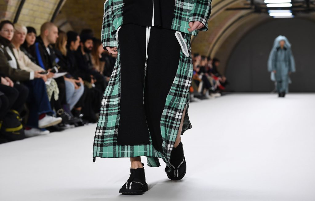 A model presents a creation by British designer Craig Green during mens London Fashion Week in London, Britain, 07 January 2019. The LFWM runs from 05 to 07 January.Craig Green - Runway - London Fashion Week Men's 2019, United Kingdom - 07 Jan 2019