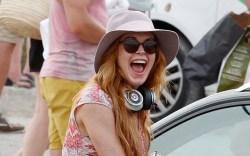 Greatest Lindsay Lohan Beach Sandal Style: