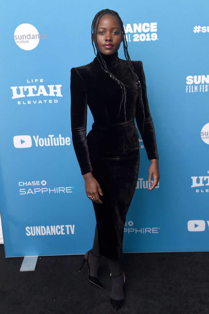 Lupita Nyong'o, little monsters, sundance film festival, red carpet, celebrity style