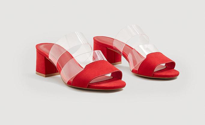 MangoVinyl Straps Sandals
