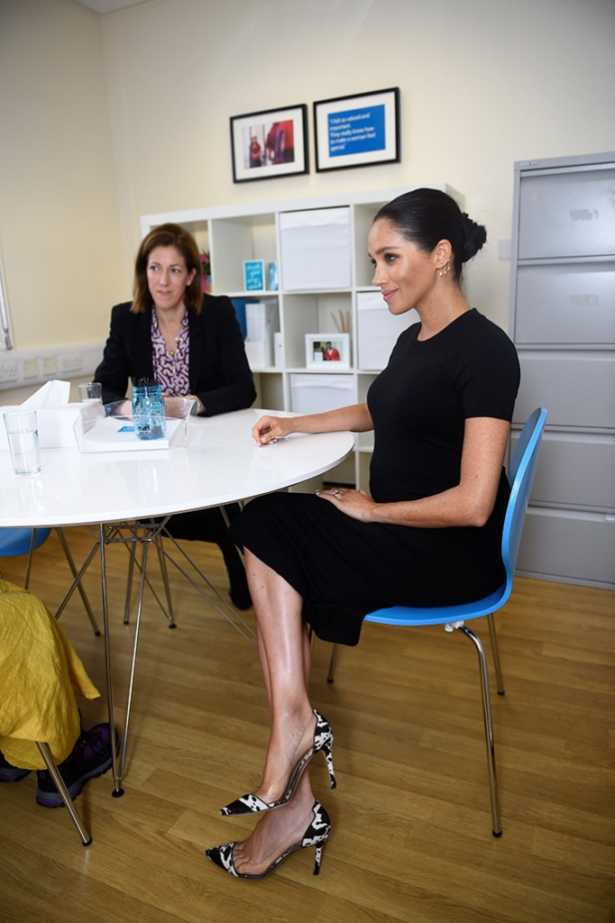 Meghan Duchess of Sussex, chats with interview coach Marina Novis, during her visit at Smart Works charityMeghan Duchess of Sussex visit to Smart Works, London, UK - 10 Jan 2019