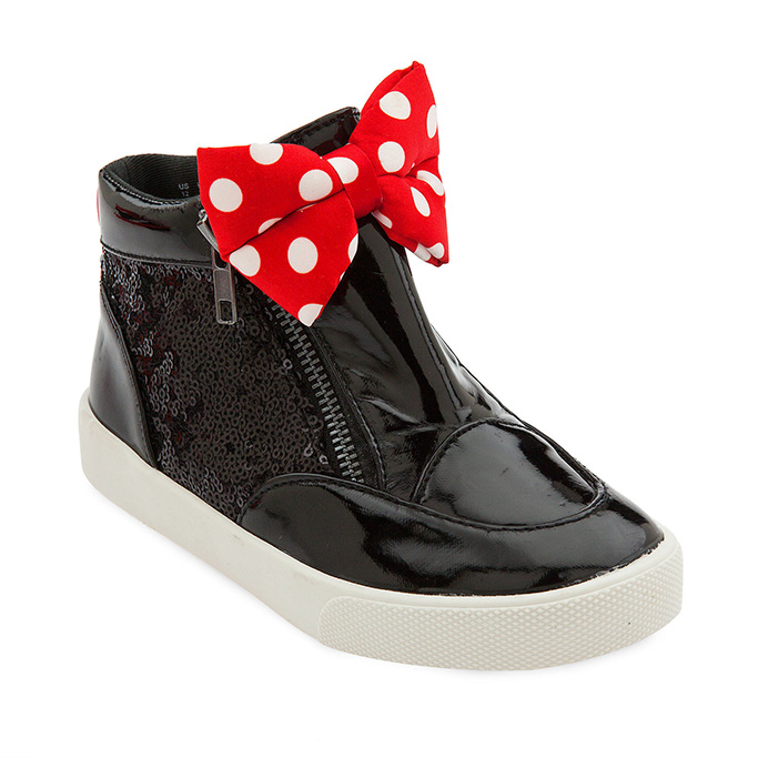 Kids Minnie Mouse Bow Sneaker