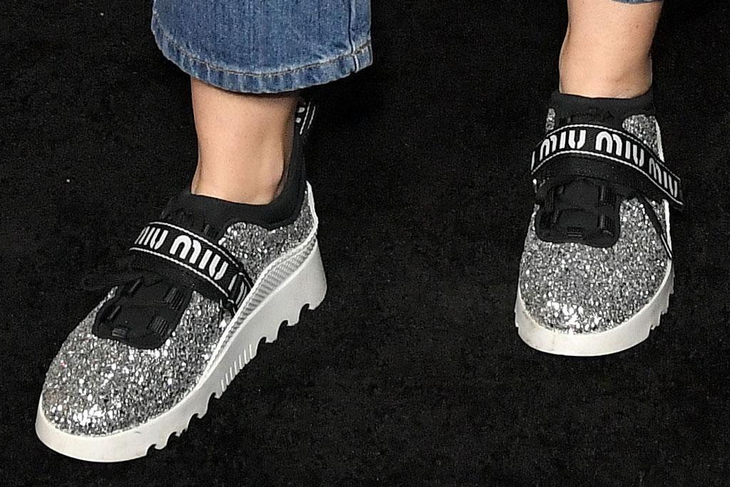 miu miu, sneakers, celebrity style, miley cyrus