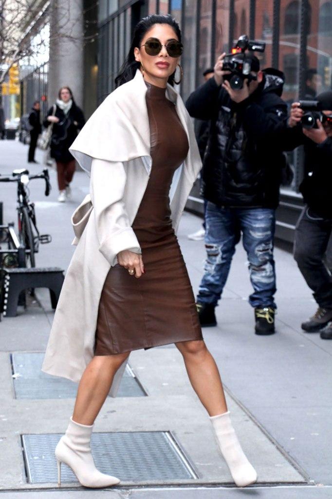 Nicole Scherzinger, celebrity style, street style, build studio, new york, polar vortex