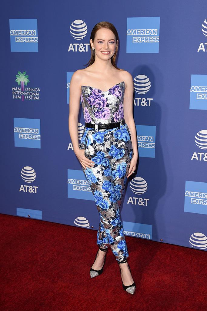 Emma Stone Palm Springs International Film Festival Film Awards Gala, Arrivals, USA - 03 Jan 2019Wearing Louis Vuitton same outfit as catwalk model *9908238al