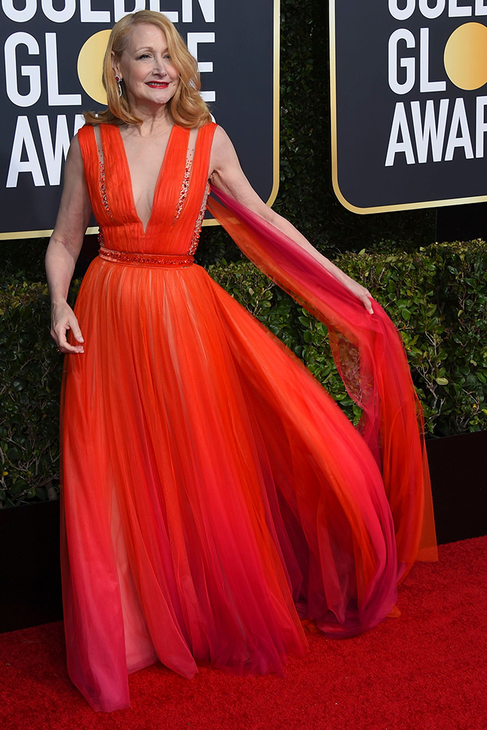 Patricia Clarkson arrives at the 76th annual Golden Globe Awards at the Beverly Hilton Hotel, in Beverly Hills, Calif76th Annual Golden Globe Awards - Arrivals, Beverly Hills, USA - 06 Jan 2019