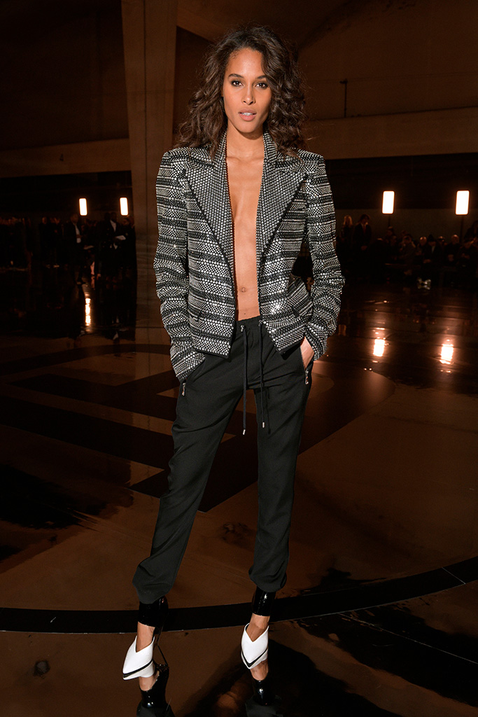 Cindy Bruna in the front rowBalmain show, Front Row, Fall Winter 2019, Paris Fashion Week Men's, France - 18 Jan 2019