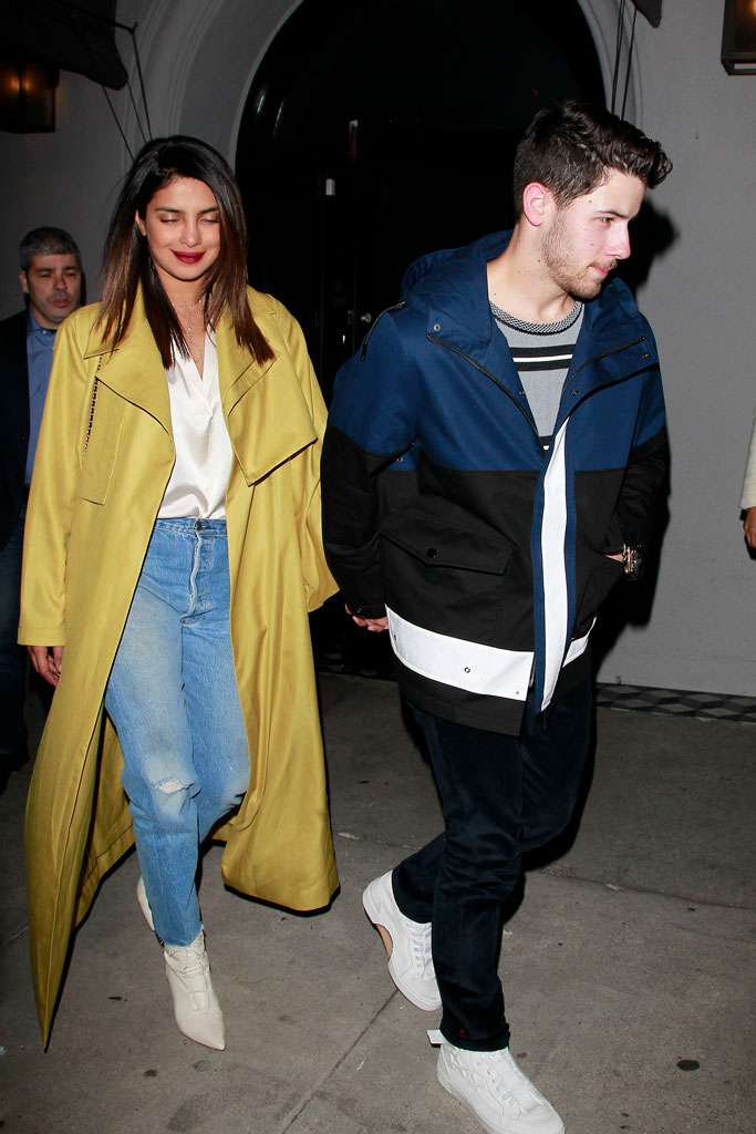 Nick Jonas, Priyanka Chopra, celebrity couple, celebrity style, newlyweds, january 2019, date night