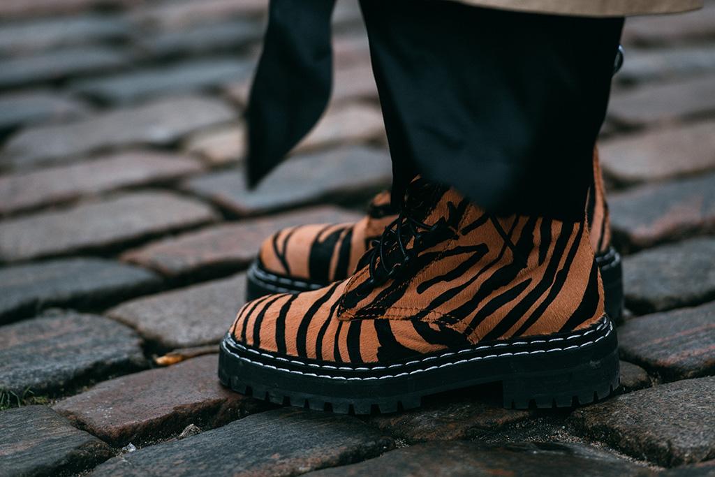 Proenza Schouler , tiger print boots, street style, copenhagen, fall 2019, fashion week