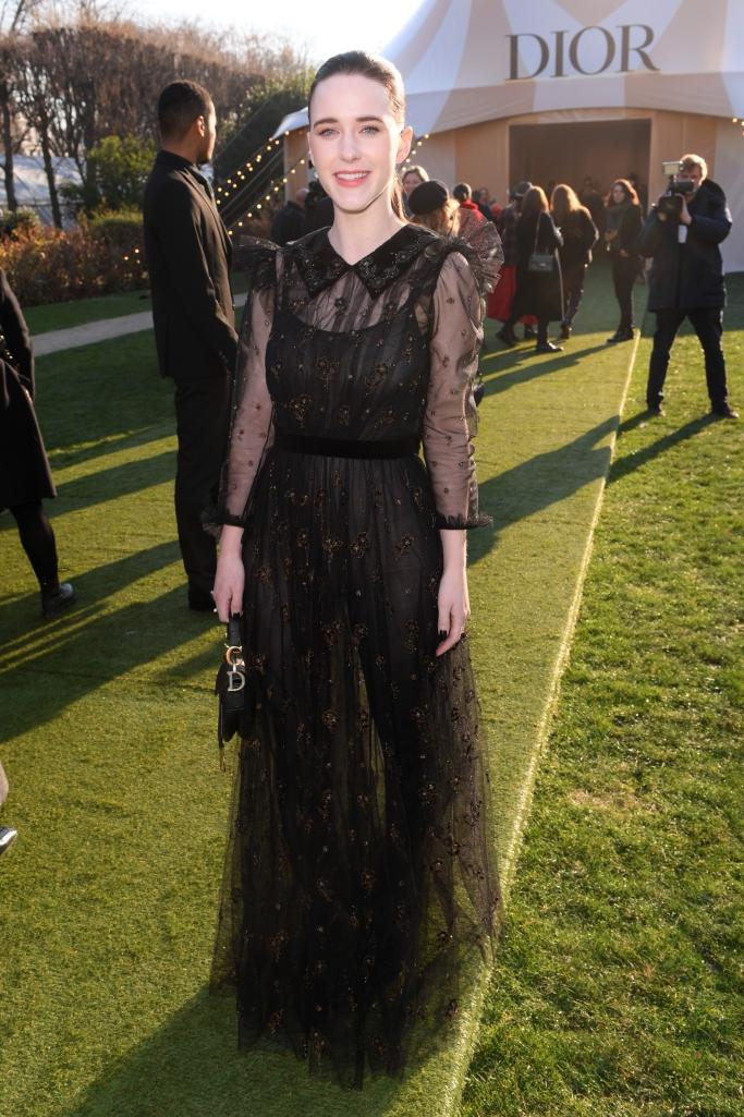 Rachel Brosnahan wearing Dior in the front row