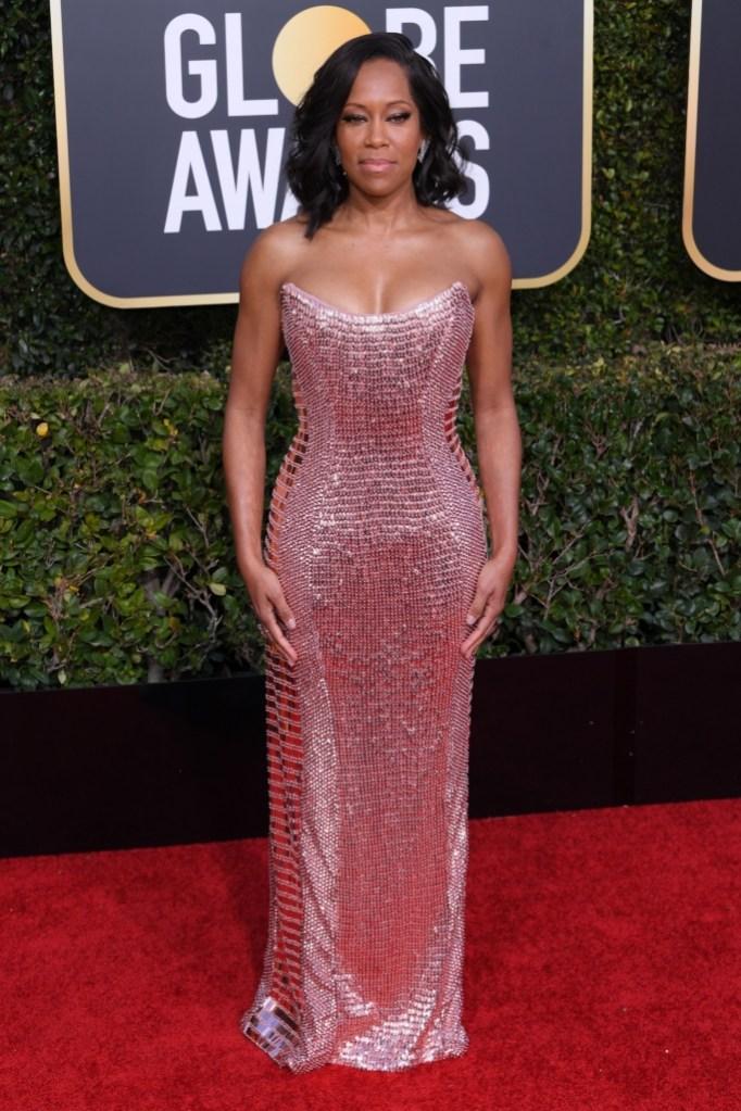 Regina King, golden globes 2019, red carpet, celebrity style