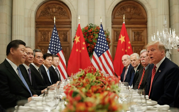 Donald Trump, Xi Jinping. President Donald Trump, right, with China's President Xi Jinping, left, during their bilateral meeting at the G20 Summit, in Buenos Aires, ArgentinaTrump G20 Summit, Buenos Aires, Argentina - 01 Dec 2018